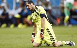 Iker Casillas i gräset