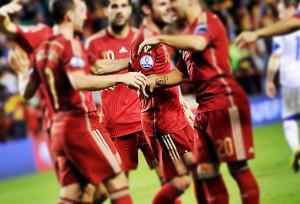 Spanien under landslagsmatch