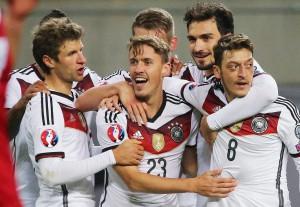 Tyskland under match